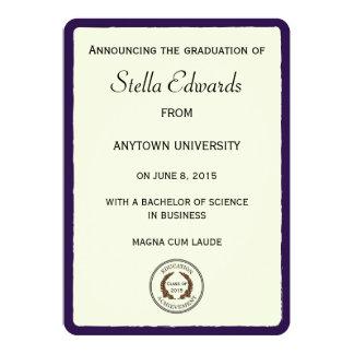 Esquinas redondas de las invitaciones púrpuras de invitación 12,7 x 17,8 cm