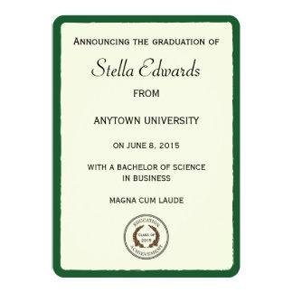 Esquinas redondas de las invitaciones verdes de la invitación 12,7 x 17,8 cm