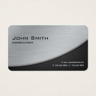 Esquinas redondeadas de la plata moderna elegante tarjeta de negocios