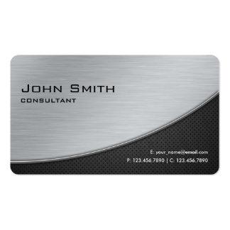 Esquinas redondeadas de la plata moderna elegante tarjetas de visita