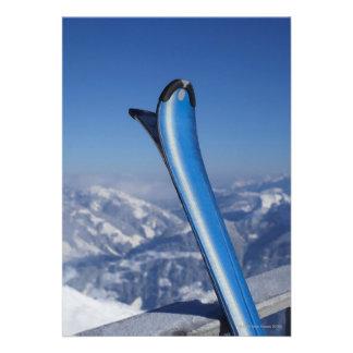 Esquís de reclinación invitacion personalizada