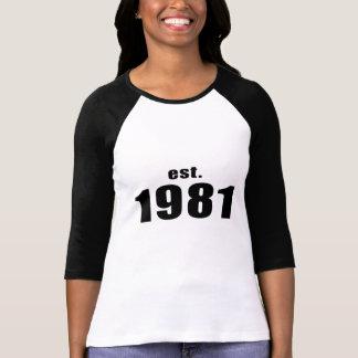 est. 1981 camiseta