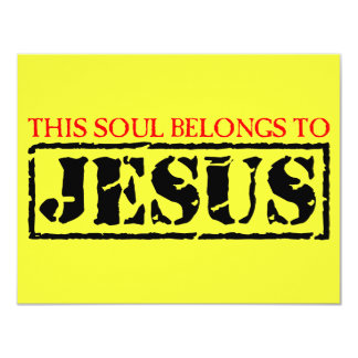 Esta alma pertenece a Jesús Invitación 10,8 X 13,9 Cm