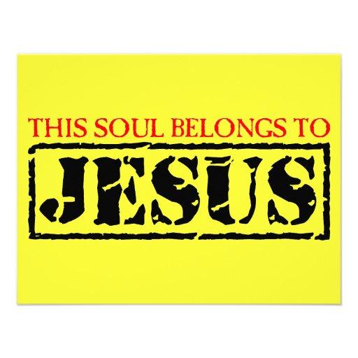 Esta alma pertenece a Jesús Comunicado Personalizado