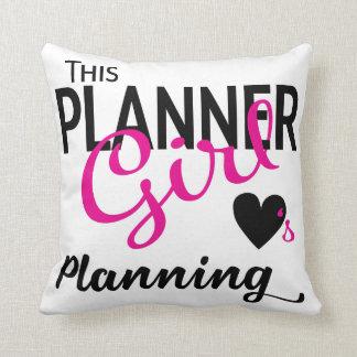 Esta almohada del planeamiento del amor del chica