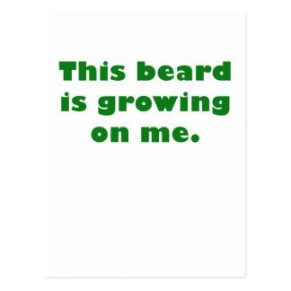 Esta barba está creciendo en mí postal