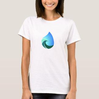 Esta camiseta salada del logotipo del frente de la