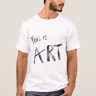 Ésta es camiseta del arte