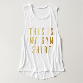 Ésta es camisetas sin mangas del músculo de Flowy