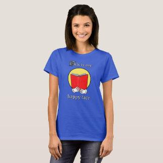 Ésta es mi cara feliz - Emoji que lee un libro Camiseta
