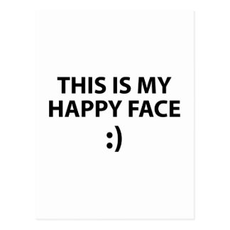 Ésta es mi cara feliz postal