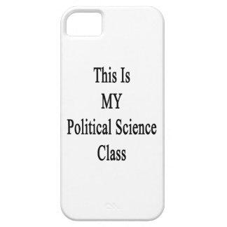 Ésta es MI clase de la ciencia política iPhone 5 Protectores