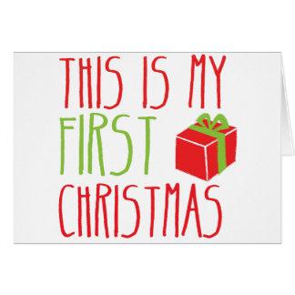 Ésta es mi Navidad recién nacida del bebé del PRIM Tarjeta De Felicitación