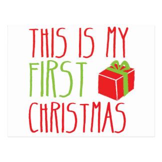 Ésta es mi Navidad recién nacida del bebé del Postal