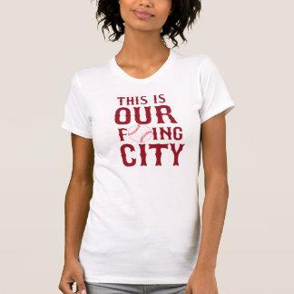 ÉSTA ES NUESTRA CIUDAD Boston de F'ING Camisetas