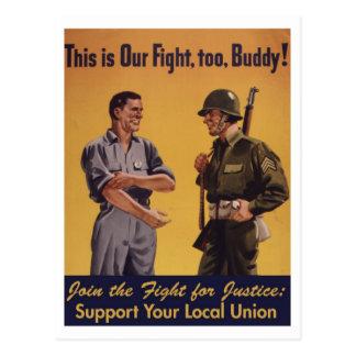 ¡Ésta es nuestra lucha, también! Postal de la