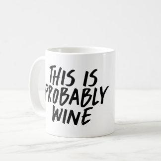 Ésta es probablemente taza de café del vino
