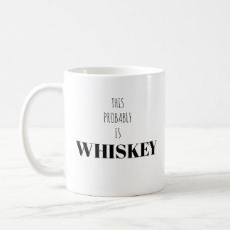 Ésta es probablemente taza del blanco del whisky