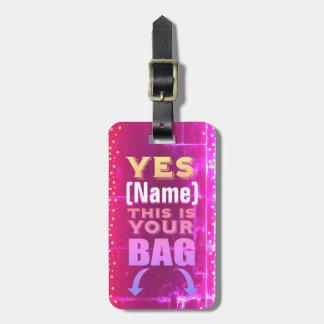 Ésta es su etiqueta del bolso