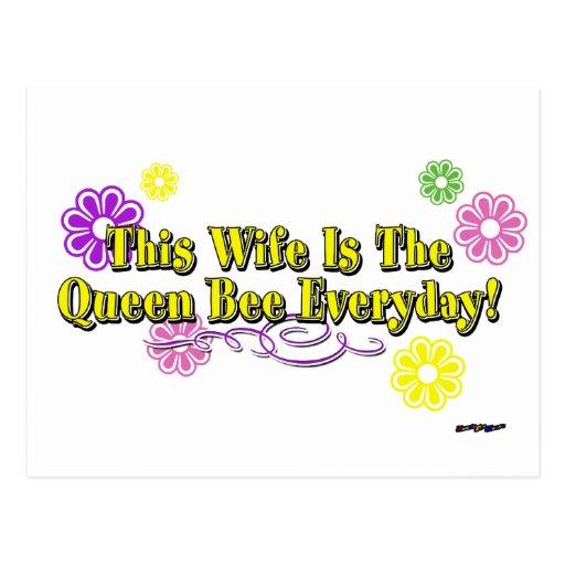 ¡Esta esposa es la abeja reina diaria! Tipo de las Tarjeta Postal