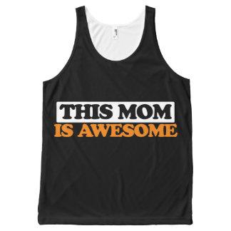 Esta mamá es impresionante camiseta de tirantes con estampado integral
