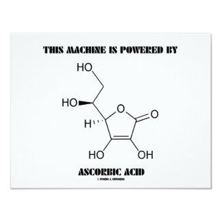 Esta máquina es accionada por el ácido ascórbico invitación 10,8 x 13,9 cm