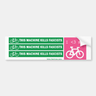 Esta máquina mata a fascistas etiqueta de parachoque