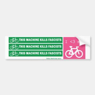 Esta máquina mata a fascistas pegatina para coche