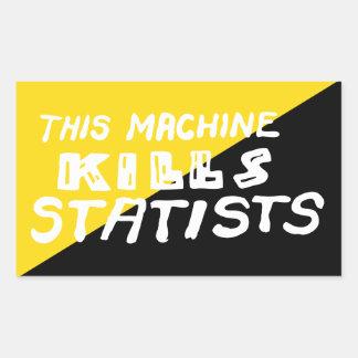 Esta máquina mata a Statists Pegatina Rectangular