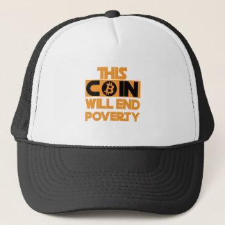 Esta moneda terminará pobreza gorra de camionero