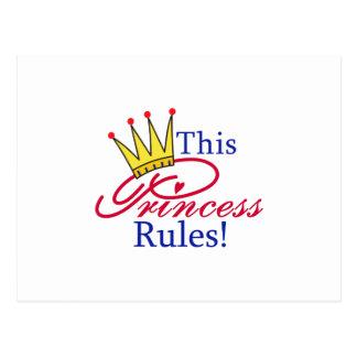 ¡Esta princesa Rules! Postal