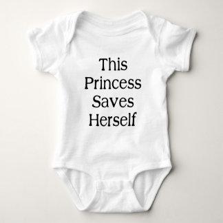 Esta princesa Saves Body Para Bebé