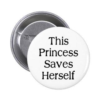 Esta princesa Saves Chapa Redonda De 5 Cm