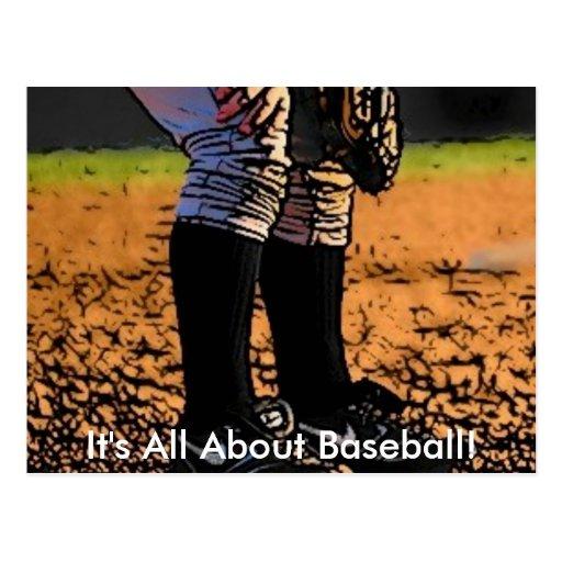 Está todo sobre béisbol postales