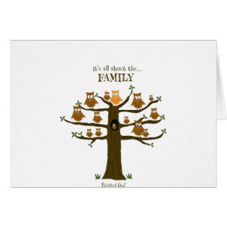 Está todo sobre la familia tarjeta de felicitación
