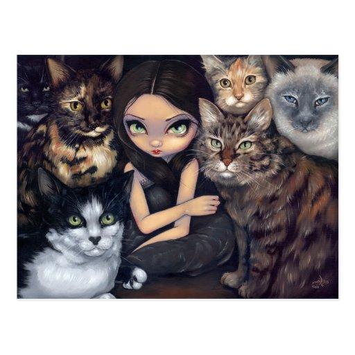 """""""Está todo sobre postal de los gatos"""""""