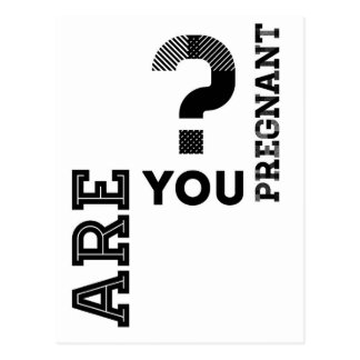 ¿Está usted embarazada? Postal