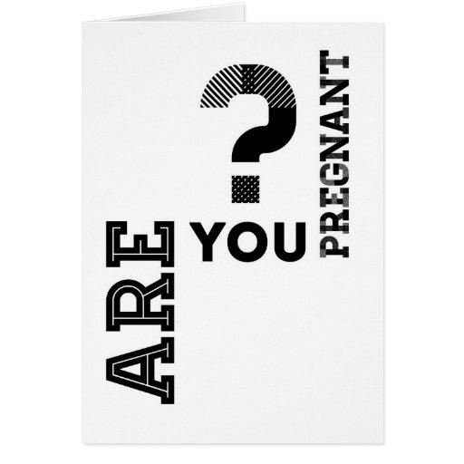 ¿Está usted embarazada? Tarjetas