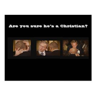 ¿Está usted seguro él es un cristiano? Postal