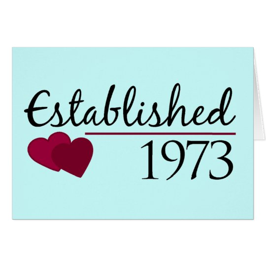 Establecido 1973 tarjeta de felicitación