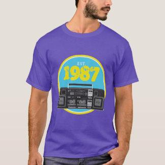 Establecido 1987 - Camiseta retra de Boombox