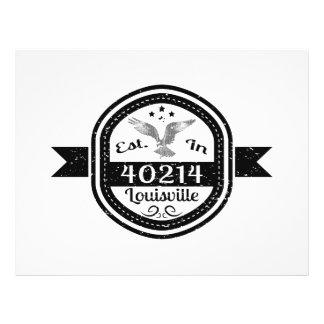 Establecido en 40214 Louisville Folleto 21,6 X 28 Cm