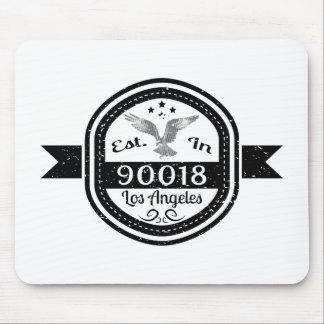 Establecido en 90018 Los Ángeles Alfombrilla De Ratón