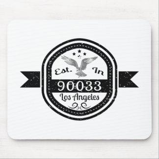 Establecido en 90033 Los Ángeles Alfombrilla De Ratón