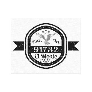 Establecido en 91732 el EL Monte Impresión En Lienzo