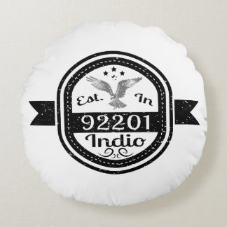 Establecido en 92201 Indio Cojín Redondo