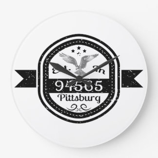 Establecido en 94565 Pittsburg Reloj Redondo Grande