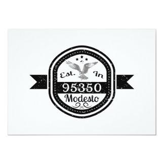 Establecido en 95350 Modesto Invitación 12,7 X 17,8 Cm