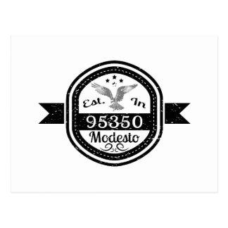 Establecido en 95350 Modesto Postal
