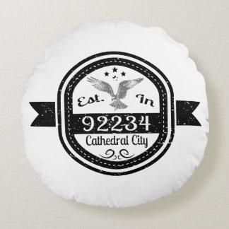 Establecido en ciudad de 92234 catedrales cojín redondo